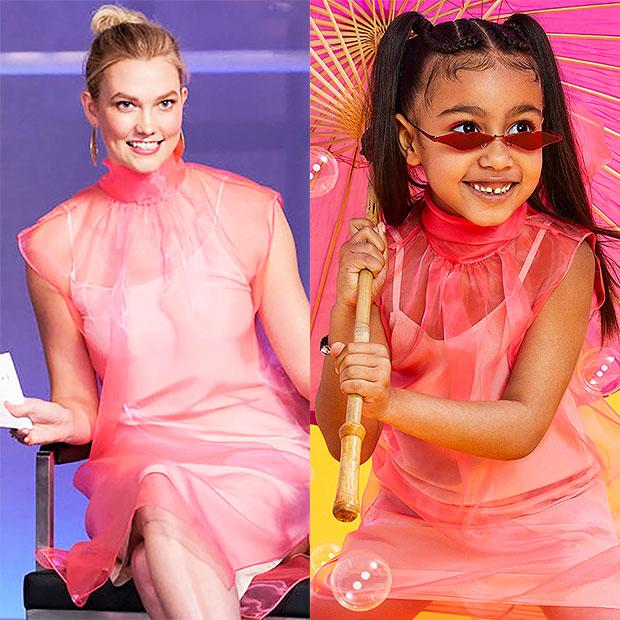 Karlie Kloss North West Same Dress
