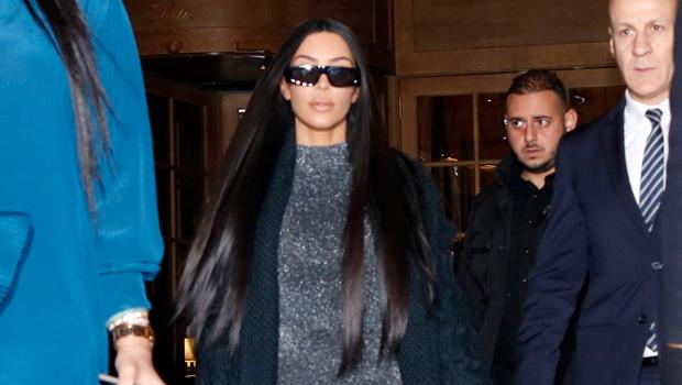 Kim Kardashian Sparkly Bodysuit