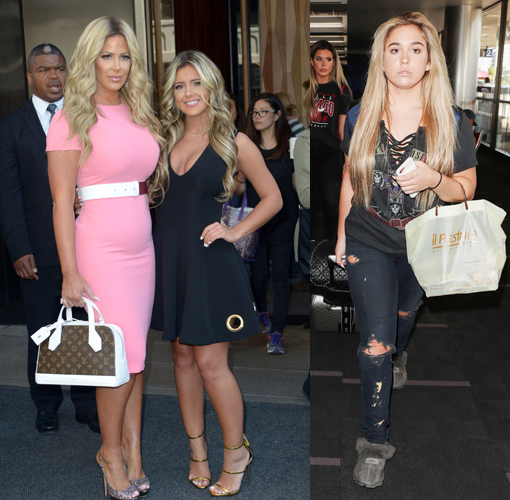 Kim Zociak-Biermann and her two daughters Brielle and Ariana.