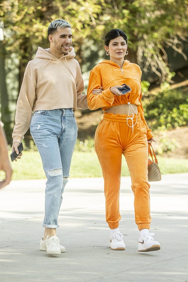 Kylie Jenner Orange Tracksuit