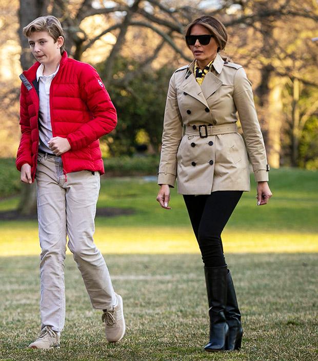 Melania Trump pictured after Fake Melania rumors