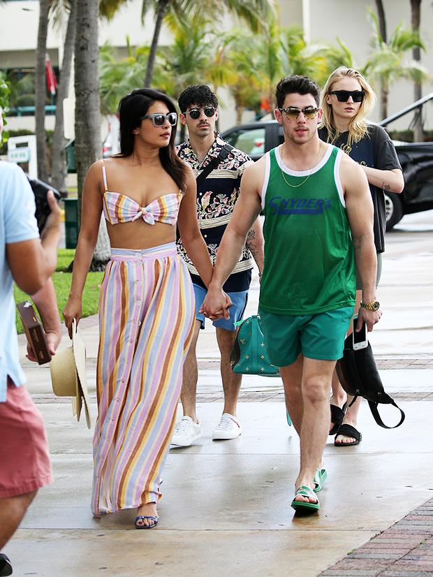 Nick Jonas Priyanka Chopra Joe Jonas Sophie Turner