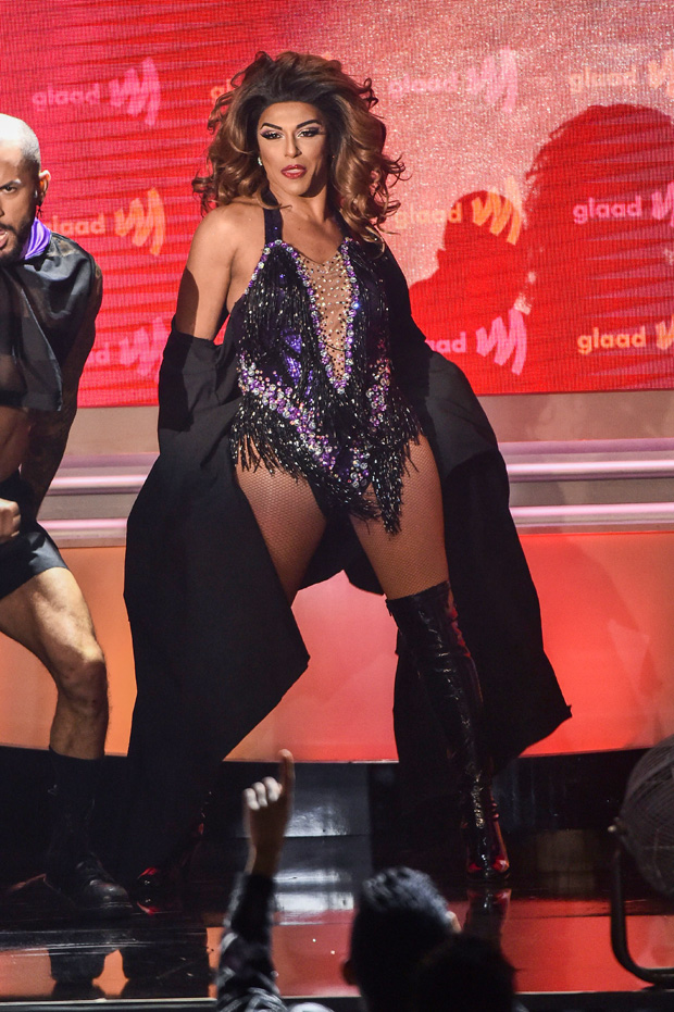 Shangela 30th Annual GLAAD Media Awards, Show, The Beverly Hilton, Los Angeles, USA - 28 Mar 2019