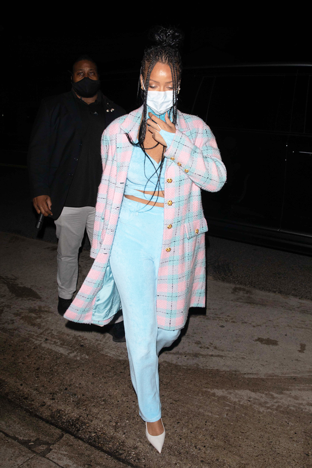 , Celebs Wearing Pastel-Colored Outfits: Rihanna & More,
