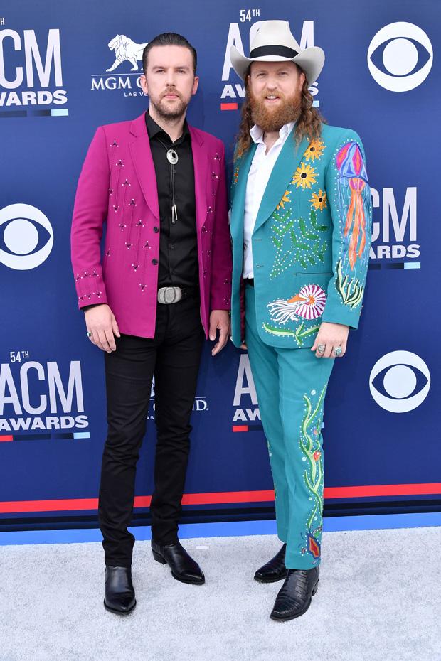 T.J. Osborne and John Osborne of Brothers Osborne54th Annual ACM Awards, Arrivals, Grand Garden Arena, Las Vegas, USA - 07 Apr 2019