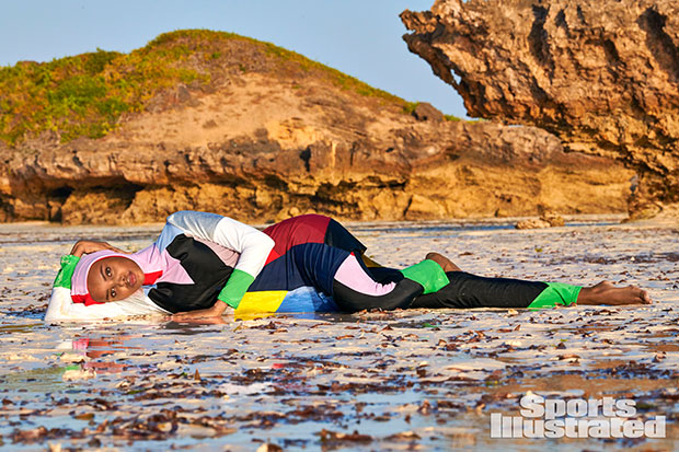 Halima Aden for 'SI Swim'