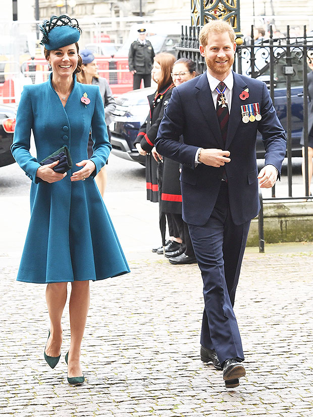 Prince Harry Kate Middleton smile Anzac
