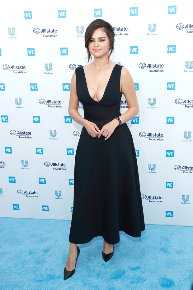 Selena Gomez arrives for WE Day California at the Forum in Inglewood, California, USA 25 April 2019. WE Day is the worlds largest youth empowerment event combining the energy of a live concert with the inspiration of extraordinary stories of leadership and change. WE Day California will bring together world-renowned speakers and award-winning performers to celebrate the tens of thousands of young people from across California who have made a difference in their community.WE Day California, Inglewood, USA - 25 Apr 2019