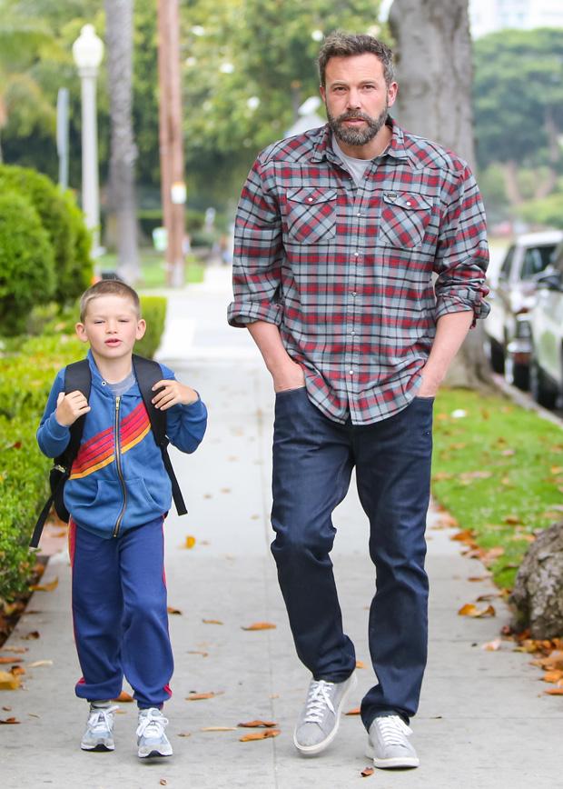 Ben Affleck and his son, Samuel