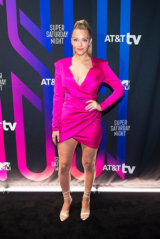 camille kostek pink dress