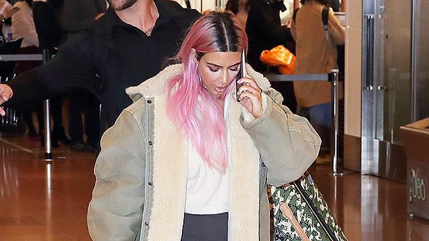 Kim Kardashian traveling