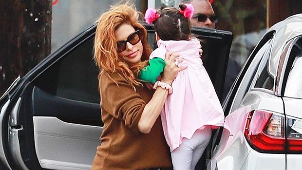 Eva Mendes & daughter Amada in LA
