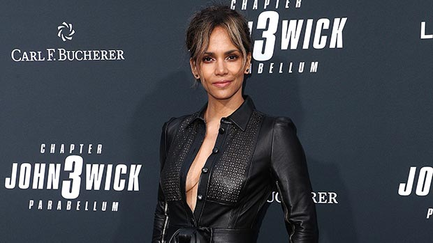 Halle Berry Leather Romper