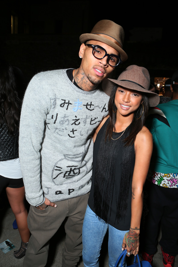 Chris Brown and Karrueche Tran at Jhene Aiko's Private EP Release Party hosted by Hennessy V.S, on in Los AngelesHennessy V.S Presents Jhene Aiko's Private EP Release Event, Los Angeles, USA - 14 Nov 2013