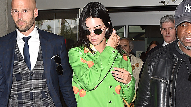 Kendall Jenner Neon Green Outfit