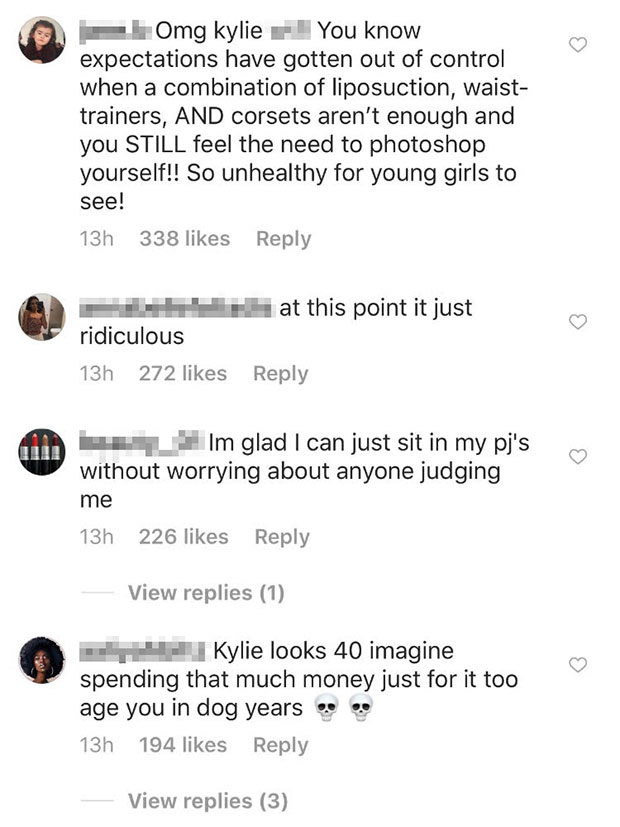 Kylie Jenner accused photoshopping Met Gala
