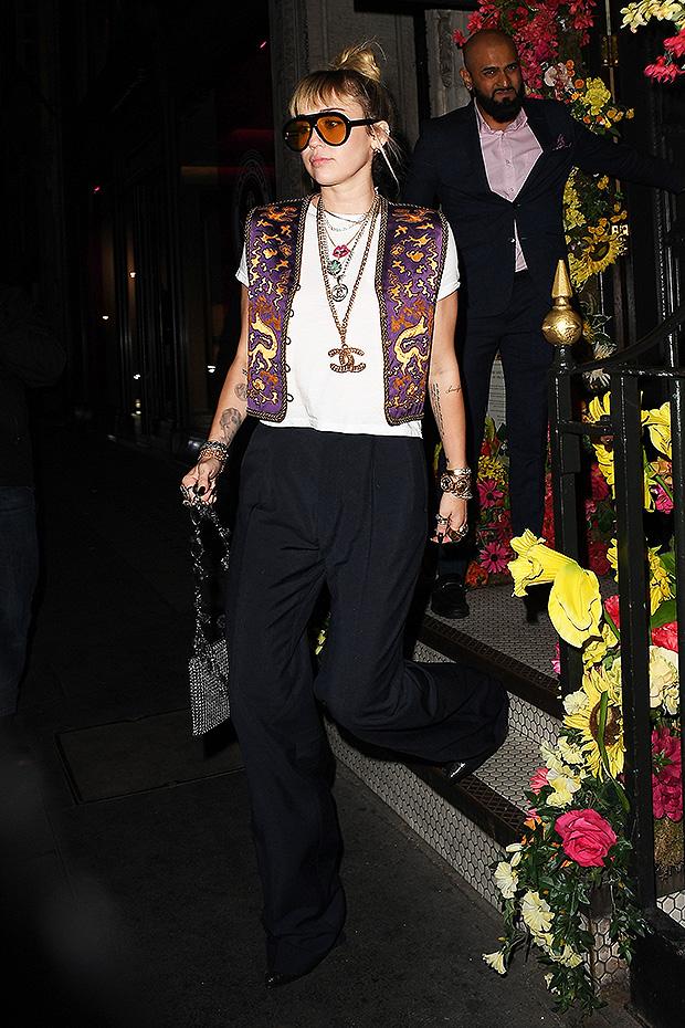 Miley Cyrus Purple Vest