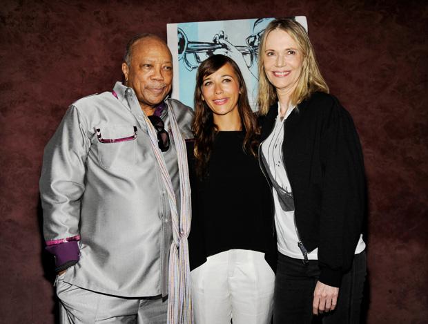 Quincy Jones, Peggy Lipton, Rashida Jones