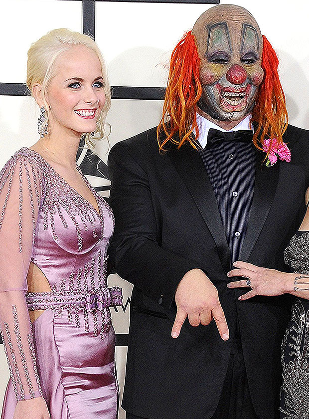 Shawn Crahan & daughter Gabrielle on the red carpet