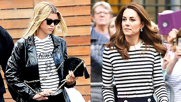 Sofia Richie Kate Middleton Stripes