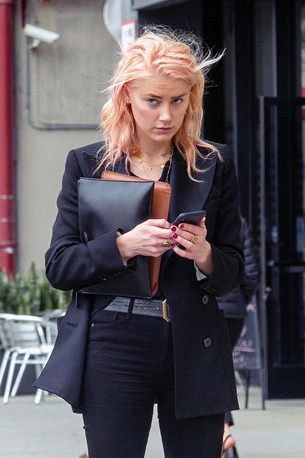Amber Heard Pink Hair