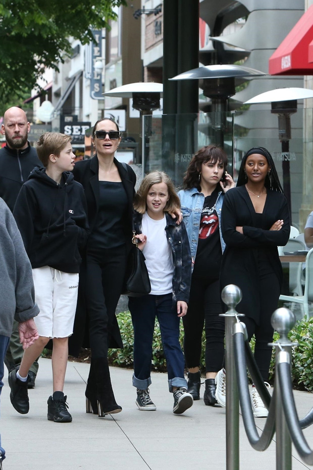 Angelina Jolie and her daughters