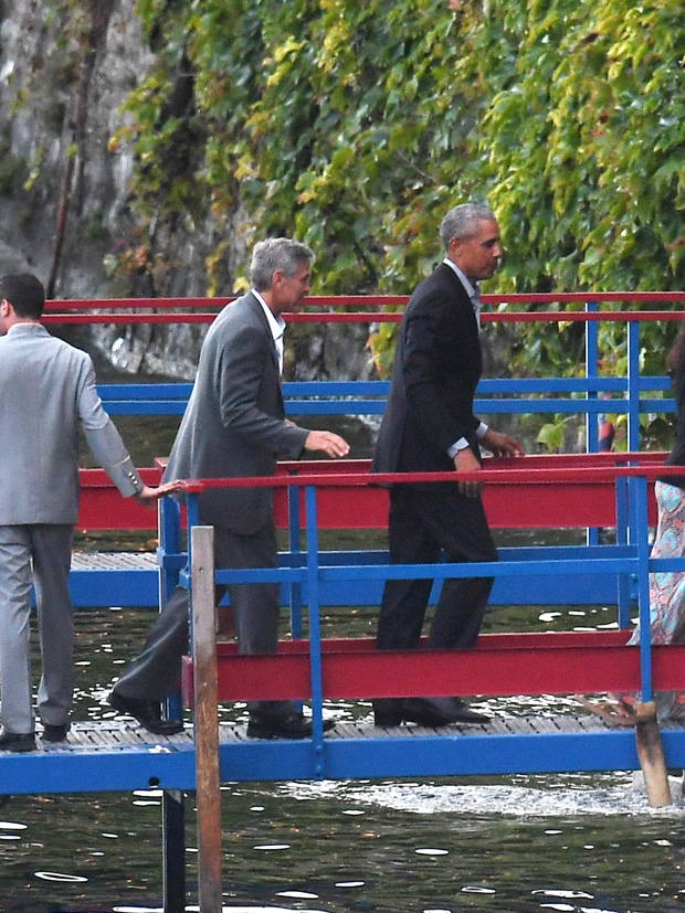 George Clooney and Barack Obama are seen at Lake Como on June 23, 2019 in Cernobbio, Lake Como, Italy.Pictured: George Clooney and Barack Obama Ref: SPL5099854 230619 NON-EXCLUSIVE Picture by: SplashNews.com Splash News and Pictures Los Angeles: 310-821-2666 New York: 212-619-2666 London: 0207 644 7656 Milan: 02 4399 8577 photodesk@splashnews.com World Rights, No France Rights, No Italy Rights, No Switzerland Rights