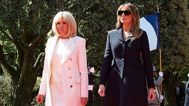Brigitte Macron Melania Trump Heels