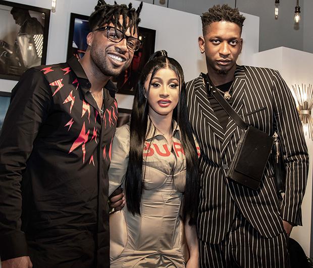 CJ South, Cardi B, & Kollin Carter