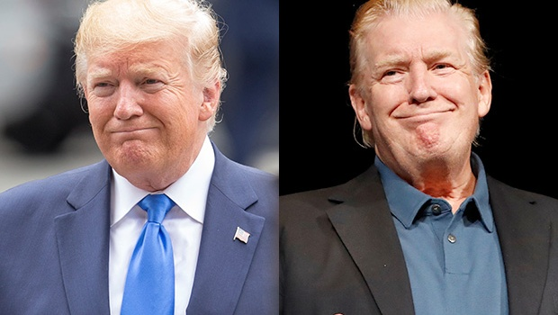 Donald Trump Hair Slicked Back Makeover See Pics Of Drastic Look Hollywood Life