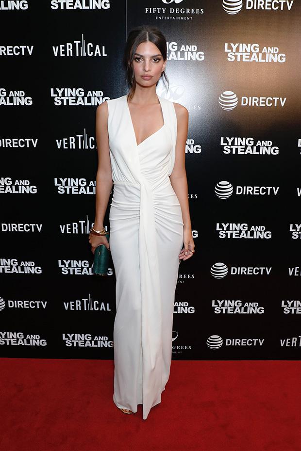 Emily Ratajkowski White Dress