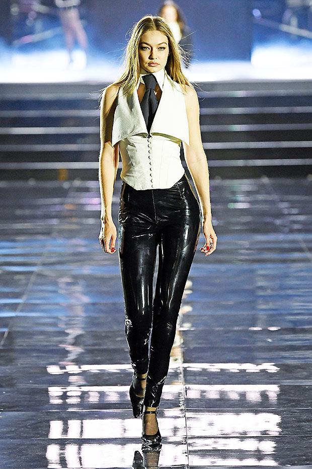 Gigi bella hadid leather pants