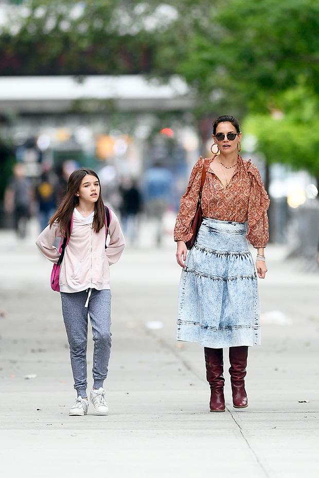 Katie Holmes & Suri Cruise in NYC