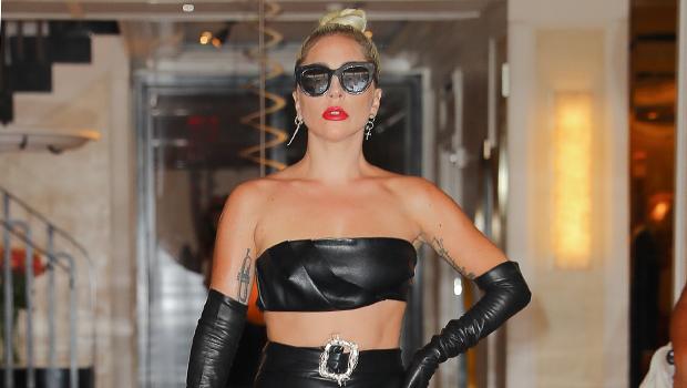 Lady Gaga Leather Dress