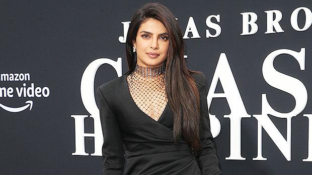 Priyanka Chopra Slit Gown