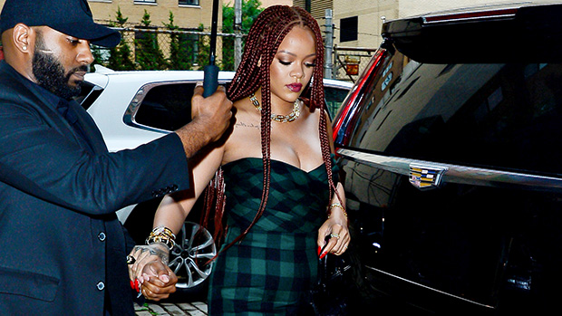 Rihanna Plaid Jumpsuit