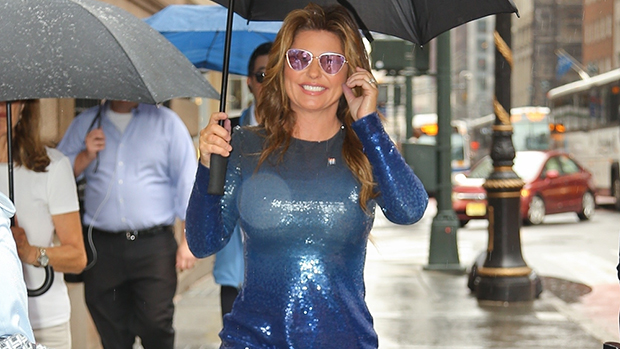 Shania Twain Blue Dress