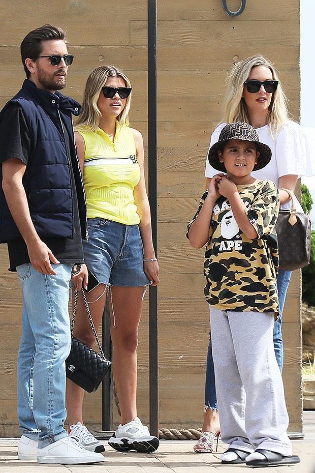 Sofia Richie, Scott Disick & his son Mason