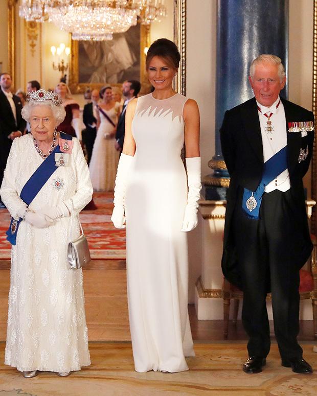 Melania Trump White Gown