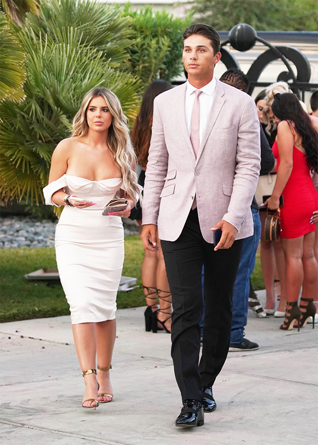 Brielle Biermann & Justin Hooper at Jake Paul's wedding