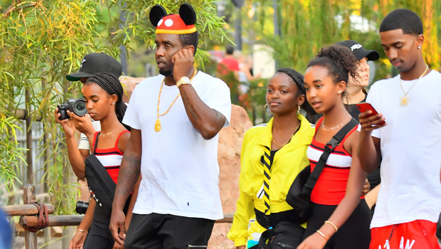 Diddy-Twin-Daughters-13-Have-A-Blast-At-Disneyland-To-Celebrate-Half-Sister's-13th-Birthday-ftr-1