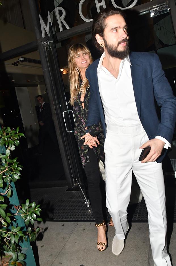 Heidi Klum & Tom Kaulitz at Mr. Chow