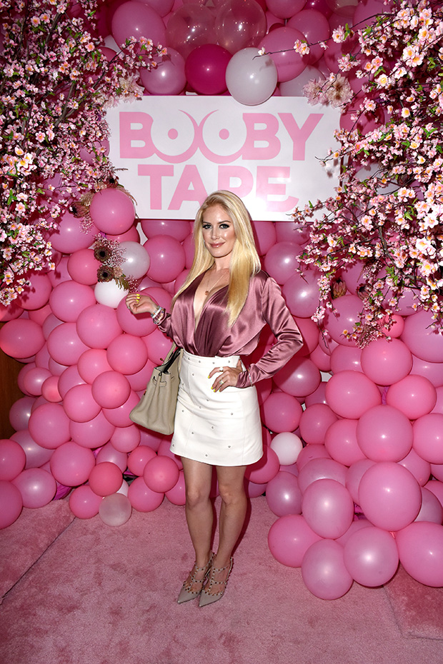 Heidi Montag at a Booby Tape event