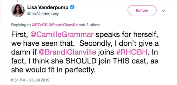 Lisa Vanderpump Tweet