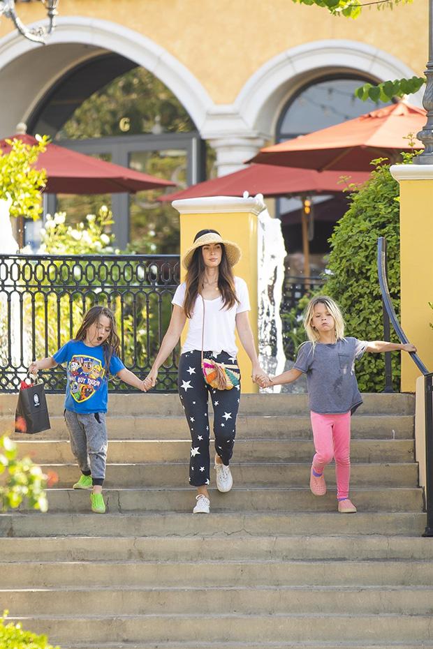 Megan Fox with sons Bodhi & Noah