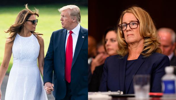 Melania and Donald Trump, Christine Blasey Ford