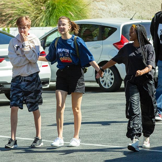 Millie Bobby Brown Shiloh Zahara Jolie-Pitt