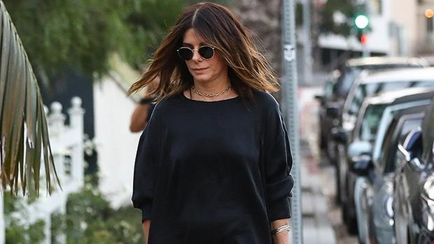 sandra bullock black dress