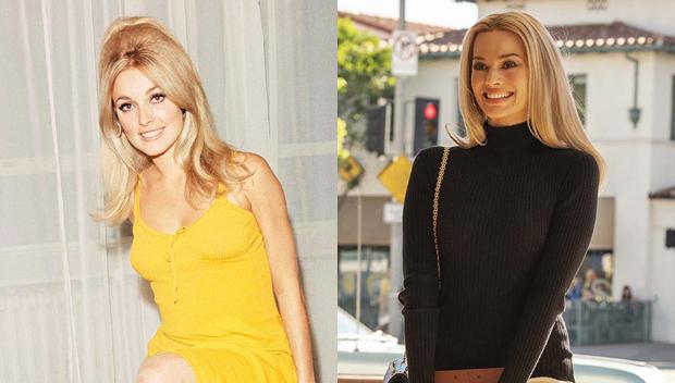 Sharon Tate and Margot Robbie