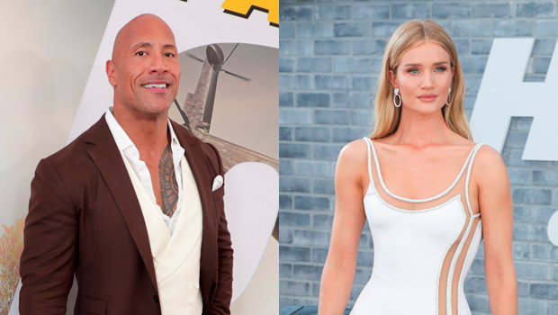 Rosie Huntington-Whiteley and The Rock